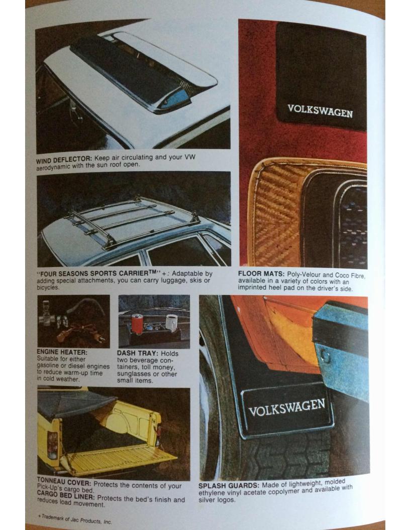 1983 vw accessory catalog. Black Bedroom Furniture Sets. Home Design Ideas
