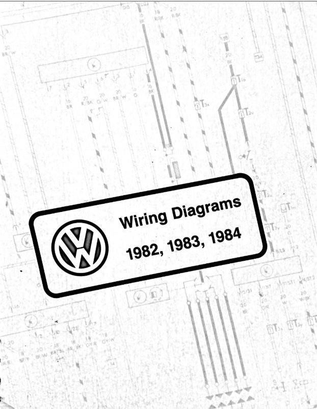 vw wiring diagram pdfs  1982  1983  1984